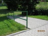 Oprava chodníku v Lázních Bohdanči